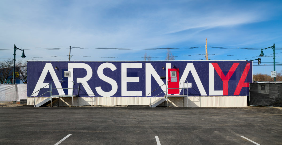 Arsenal Yards leasing trailer graphic