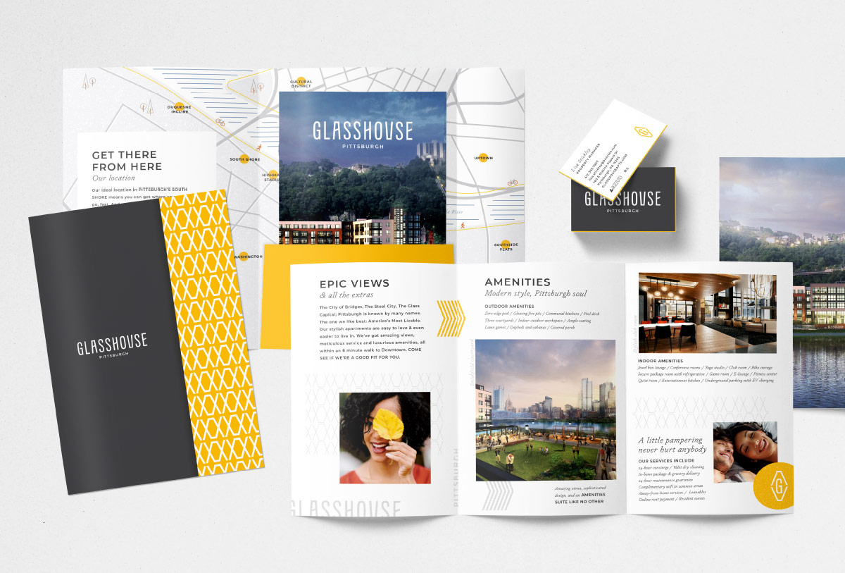 Glasshouse print collateral